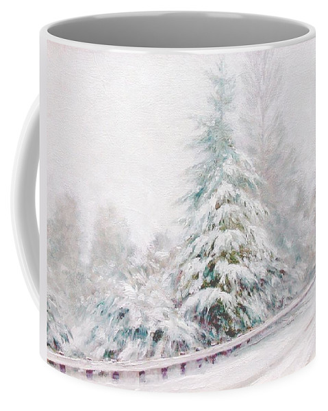 Winter Landscape Coffee Mug featuring the painting Winter Of 04 by Jim Gola