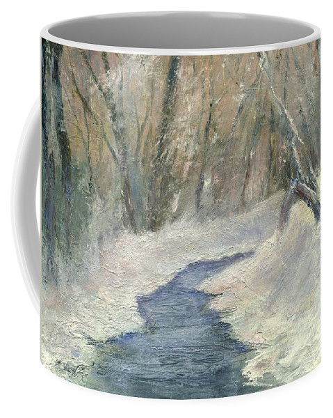 Snow Coffee Mug featuring the painting Winter On Stormcreek by Gail Kirtz