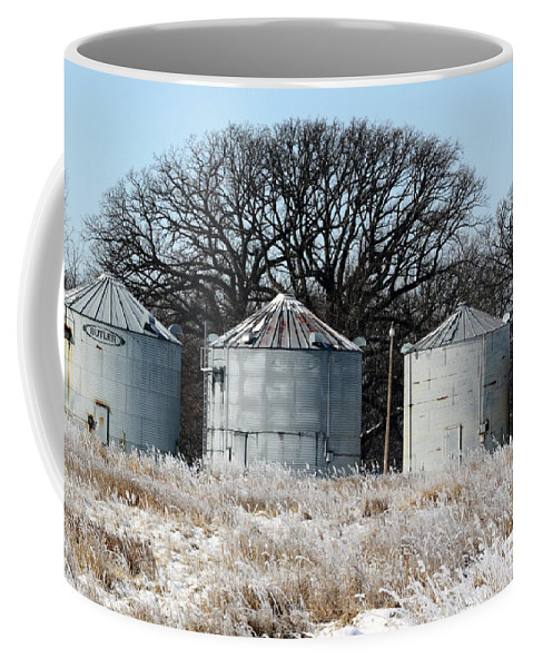 Agriculture Coffee Mug featuring the photograph Winter On The Prairie Number 1 by Alan Look