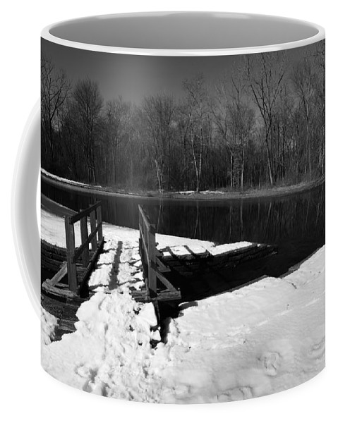Winter Coffee Mug featuring the photograph Winter Park 2 by Charles HALL