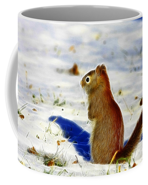 Red Coffee Mug featuring the photograph Winter Red by Deborah Benoit