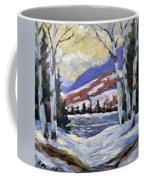 Art Coffee Mug featuring the painting Winter Reflections by Richard T Pranke
