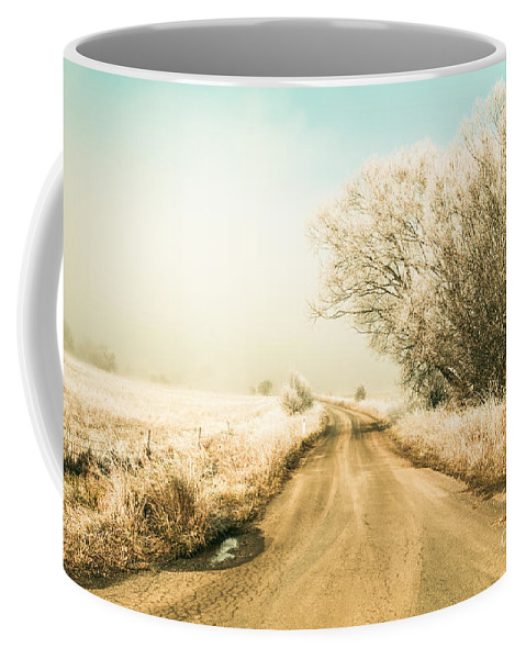Winter Coffee Mug featuring the photograph Winter Road Wonderland by Jorgo Photography - Wall Art Gallery