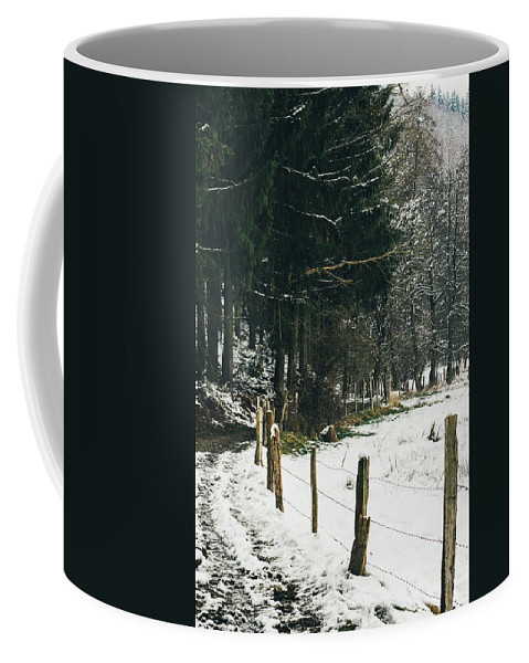 Rural Pathway Coffee Mug featuring the photograph Winter Rural Pathway by Pati Photography