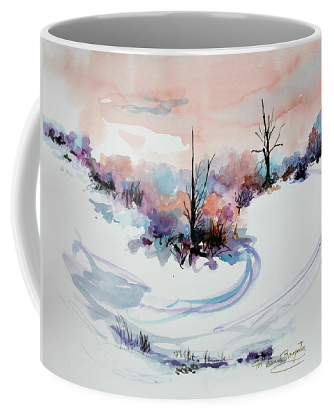Fantasy Coffee Mug featuring the painting Winter Scene 2 by M Diane Bonaparte