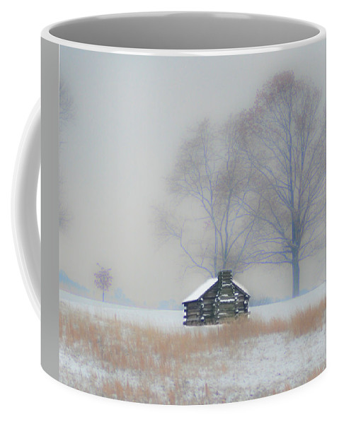 Winter Coffee Mug featuring the photograph Winter Scene - Valley Forge by Bill Cannon