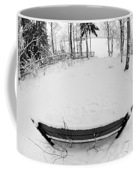 Lehtokukka Coffee Mug featuring the photograph Winter Seat 1 by Jouko Lehto