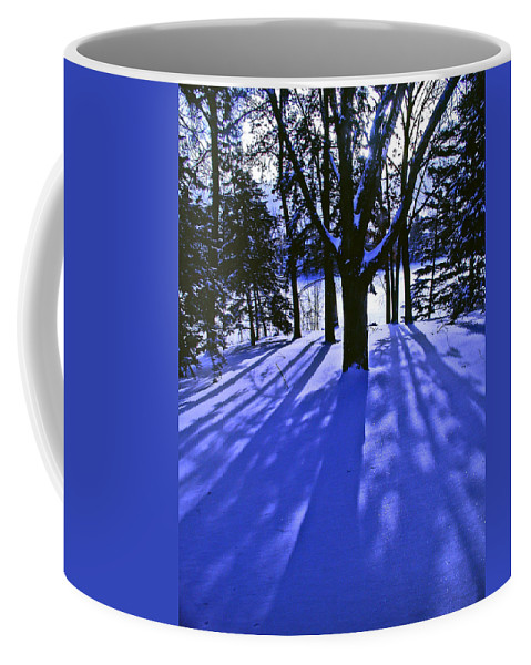 Landscape Coffee Mug featuring the photograph Winter Shadows by Tom Reynen