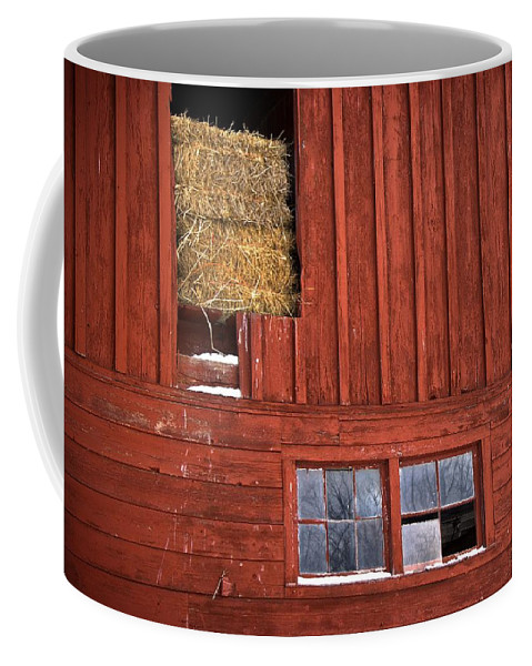 Farm Coffee Mug featuring the photograph Winter Shelter by LuAnn Griffin
