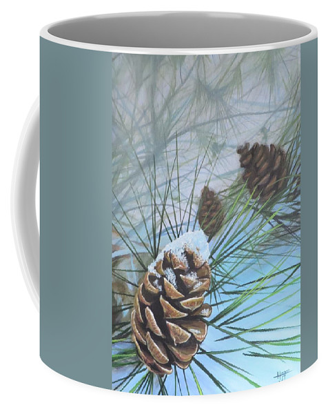 Pinecone Coffee Mug featuring the painting Winter Silence by Hunter Jay