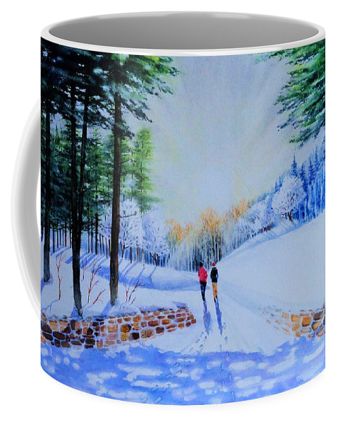 Winter Coffee Mug featuring the painting Winter Sonnet by Tom Harris