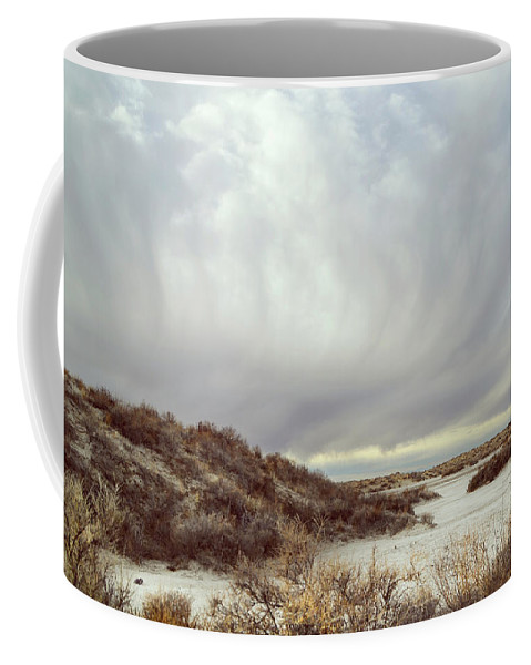 Landscapes Coffee Mug featuring the photograph Winter Storm Clouds 2018-2289 by Karen W Meyer