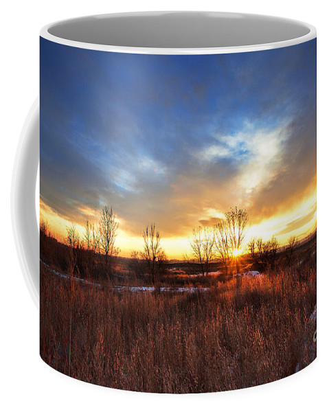 Country Sunset Coffee Mug featuring the photograph Winter Sun by Jim Garrison