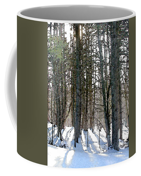 Winter Coffee Mug featuring the painting Winter Sun by Paul Sachtleben