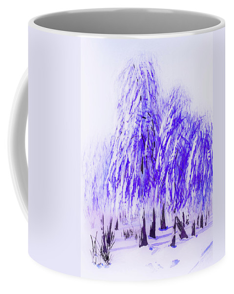 Winter Coffee Mug featuring the painting Winter by Svetlana Sewell