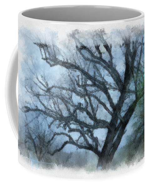 Texas Coffee Mug featuring the photograph Winter Tree by Paulette B Wright