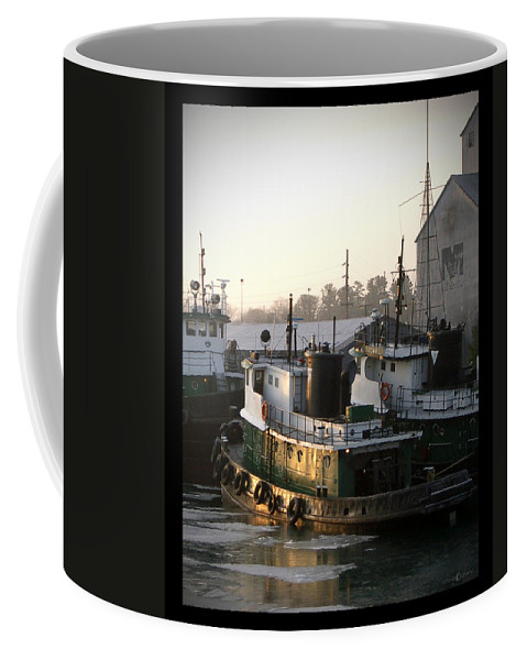 Tugs Coffee Mug featuring the photograph Winter Tugs by Tim Nyberg