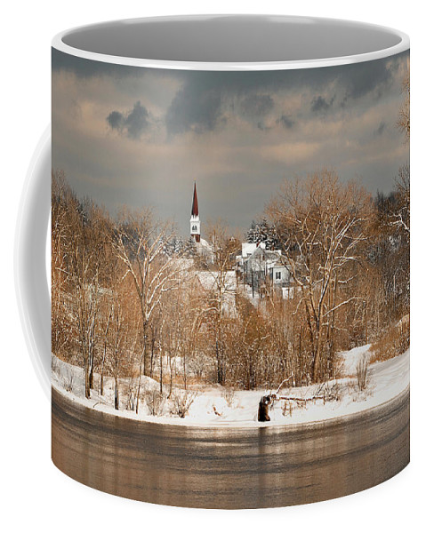 Winter Coffee Mug featuring the photograph Winter View Of Allenstown by Greg Fortier