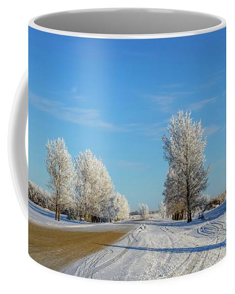 Winter Coffee Mug featuring the photograph Winter In Saskatchewan by Viktor Birkus