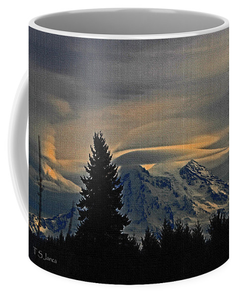 Winter Volcano Coffee Mug featuring the photograph Winter Volcano by Tom Janca