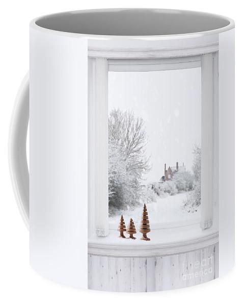 Winter Coffee Mug featuring the photograph Winter Window by Amanda Elwell