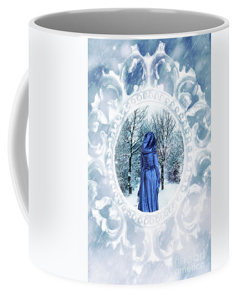 Winter Coffee Mug featuring the photograph Winter Woman by Amanda Elwell