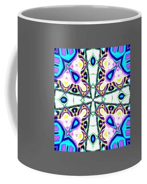 Winter Coffee Mug featuring the digital art Wintercross by Blind Ape Art
