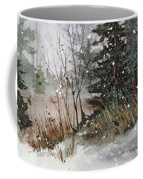 Winter Coffee Mug featuring the painting Winterlude by Cheryl Johnson