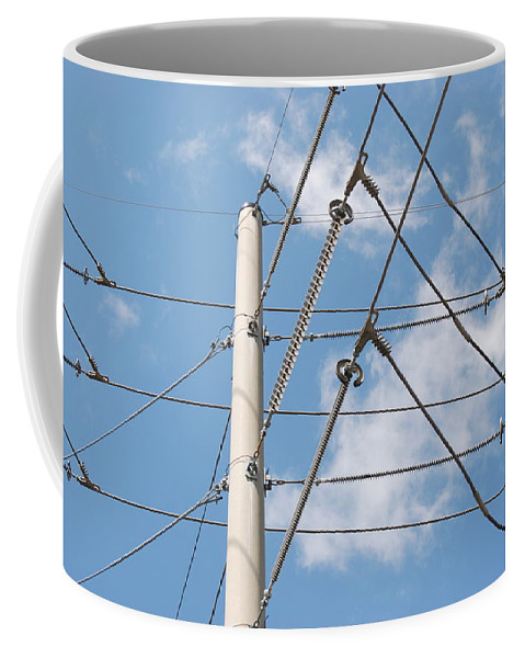 Sky Coffee Mug featuring the photograph Wired Sky by Rob Hans