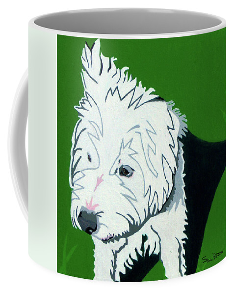 Jack Russell Coffee Mug featuring the painting Wirehaired Jack Russell Terrier by Slade Roberts