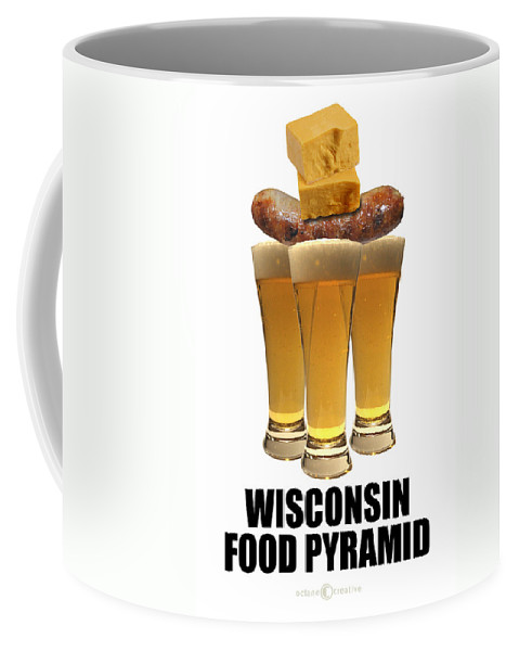 Wisconsin Coffee Mug featuring the photograph Wisconsin Food Pyramid by Tim Nyberg