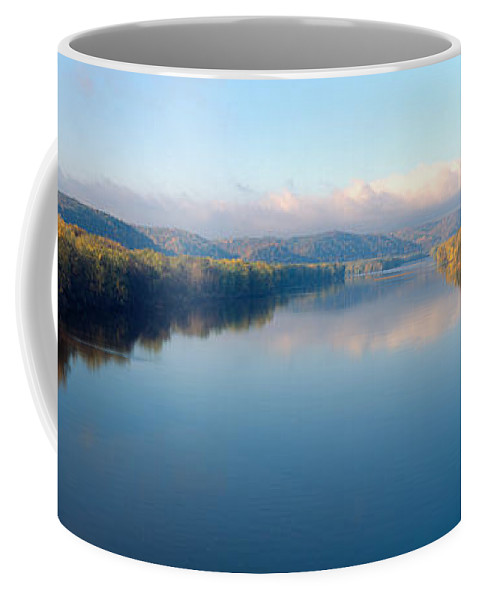 Photography Coffee Mug featuring the photograph Wisconsin River And Prairie De Chen by Panoramic Images