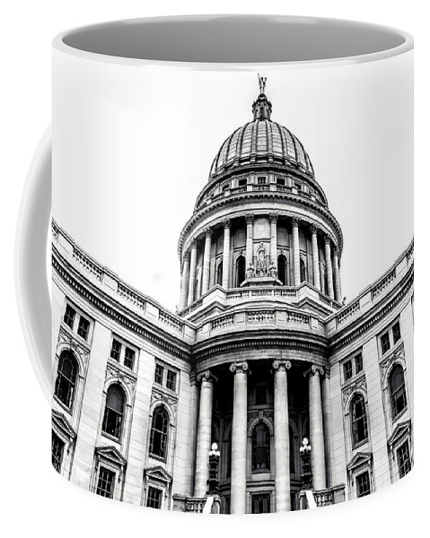 Capitol Coffee Mug featuring the photograph Wisconsin's Capitol by Rockland Filmworks