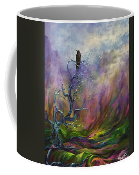 Wisdom Coffee Mug featuring the painting Wisdom by Vesna Delevska
