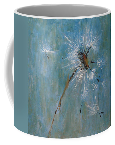 Landscape Coffee Mug featuring the painting Wishes by Barbara Andolsek