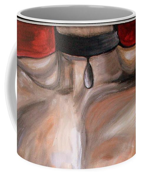 Body Coffee Mug featuring the painting Wishful Thinking.. by Jolanta Anna Karolska