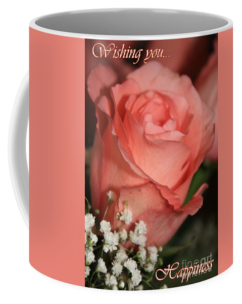 Card Coffee Mug featuring the photograph Wishing You Happiness Card by Carol Groenen