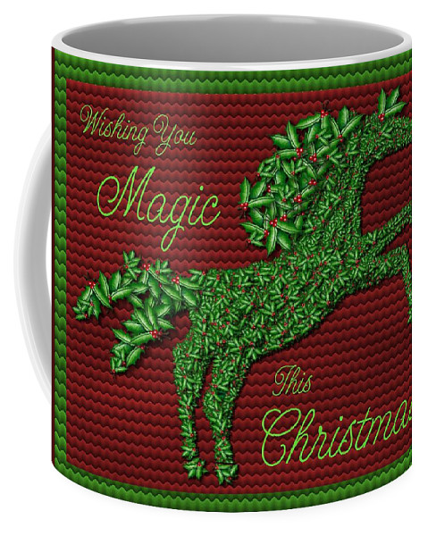 Holly Coffee Mug featuring the digital art Wishing You Magic This Christmas by Shannon Story