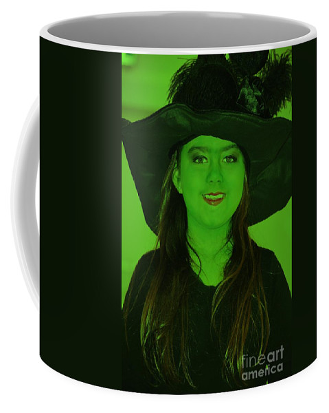 Green Coffee Mug featuring the photograph Witch Craft by Photos By Zulma