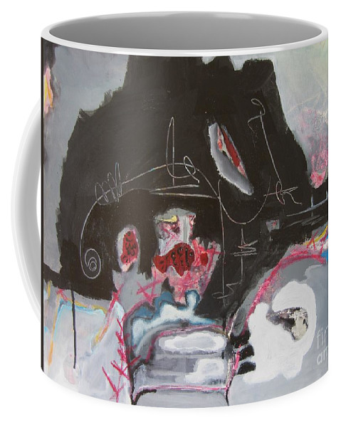 Abstract Paintings Coffee Mug featuring the painting With Little Escape From Life by Seon-Jeong Kim