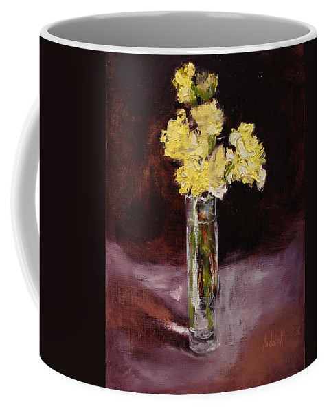 Floral Coffee Mug featuring the painting With Love by Barbara Andolsek