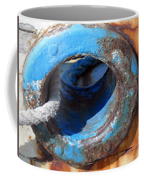 Old Coffee Mug featuring the photograph With Old Ship by Vesna Martinjak