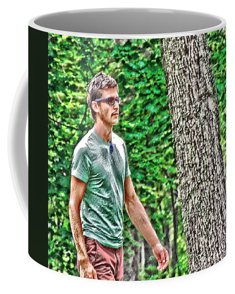 Man Coffee Mug featuring the digital art With Purpose by Vincent Green