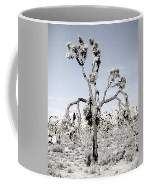 Joshua Tree Coffee Mug featuring the photograph Withering Joshua Tree by Alex Snay