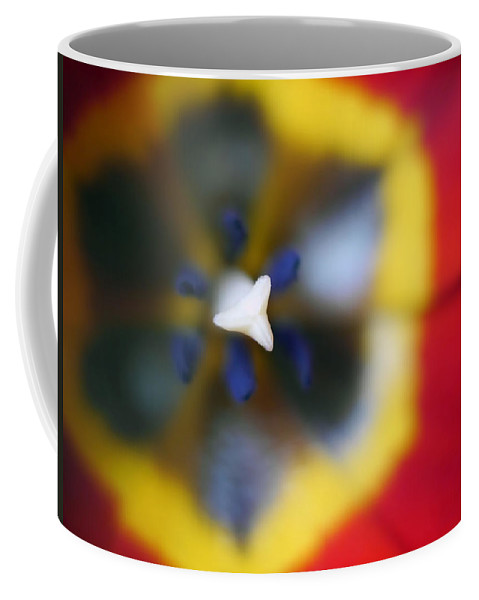 Flowers Coffee Mug featuring the photograph Within The Tulip by Tina Baxter