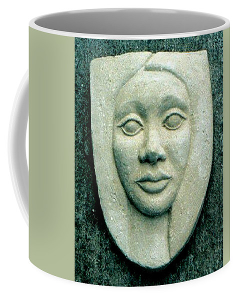 Relief Coffee Mug featuring the relief Without Veils by Madalena Lobao-Tello