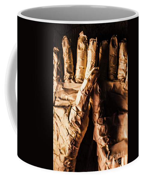 Mummy Coffee Mug featuring the photograph Wizened Horror Hands by Jorgo Photography - Wall Art Gallery