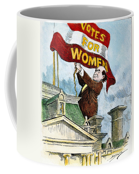 1915 Coffee Mug featuring the photograph W.j. Bryan Cartoon, C1915 by Granger