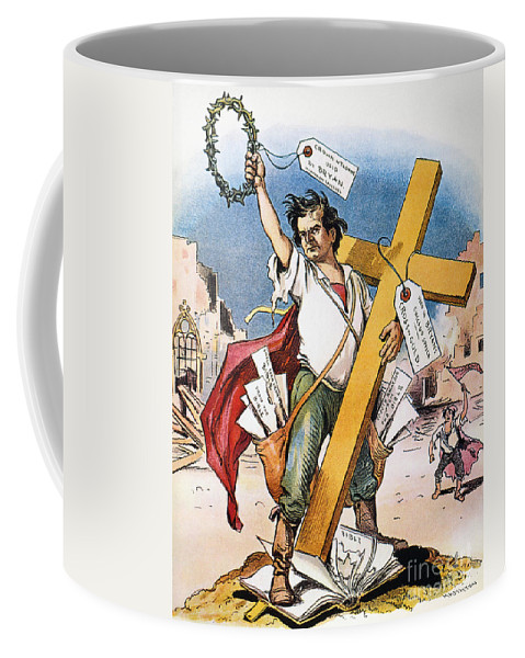 1896 Coffee Mug featuring the photograph W.j. Bryan: Cross Of Gold by Granger