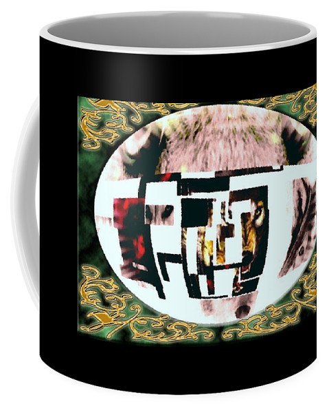 Wolf Coffee Mug featuring the mixed media Wolfman by Kim Rahal
